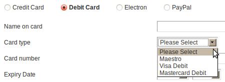 Selección de tarjeta de Jet2